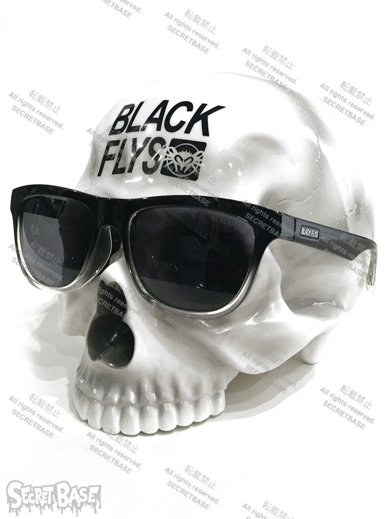 画像1: 1/1 SKULL HEAD BLACK FLYS SUN GLASS SET WHITE (1)