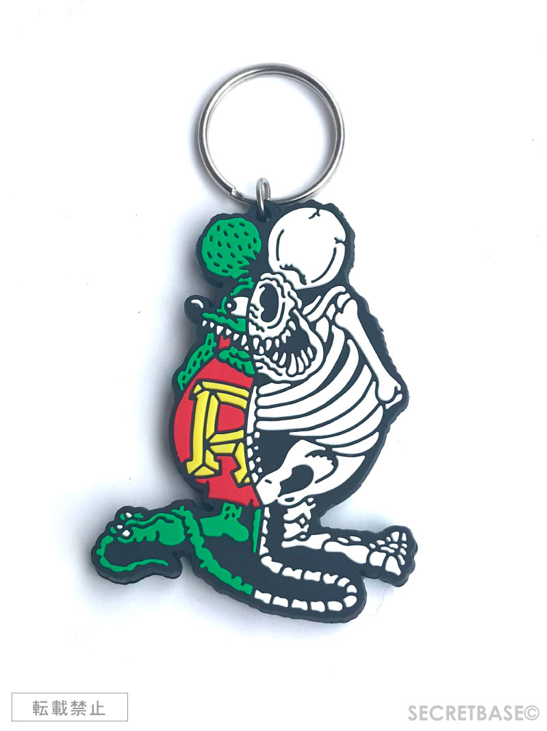 画像1: X-RAY RAT FINK RUBBER KEY HOLDER  (1)