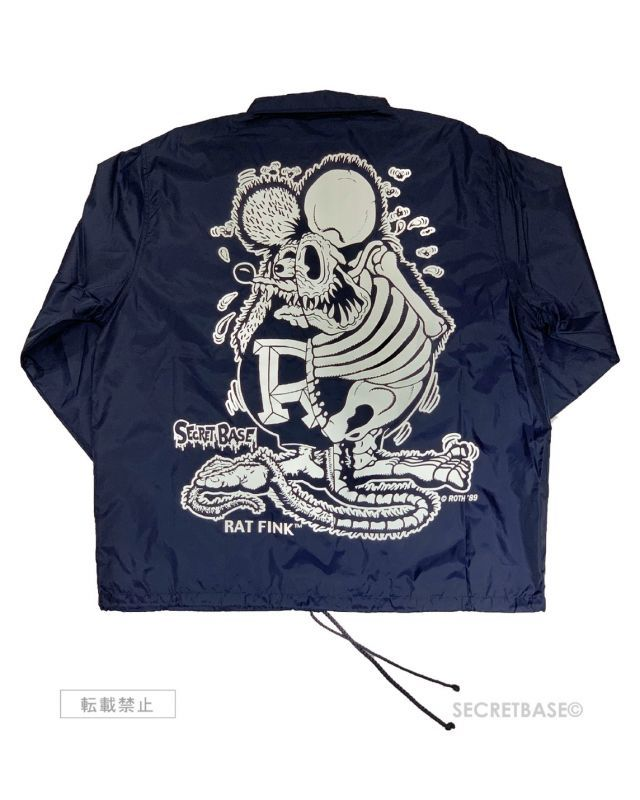 画像1: RAT FINK  COACH  JACKET NAVY / WHITE (1)