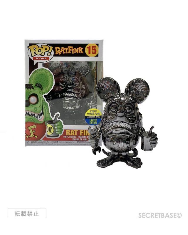 画像1: Funko Pop RAT FINK - Chrome Black Ver. [Toytokyo Limited] (1)
