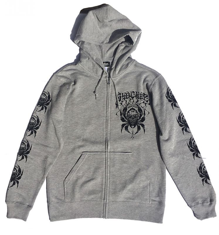 画像1: BALZAC x USUGROW ZIP PARKA  MIX GRAY (1)