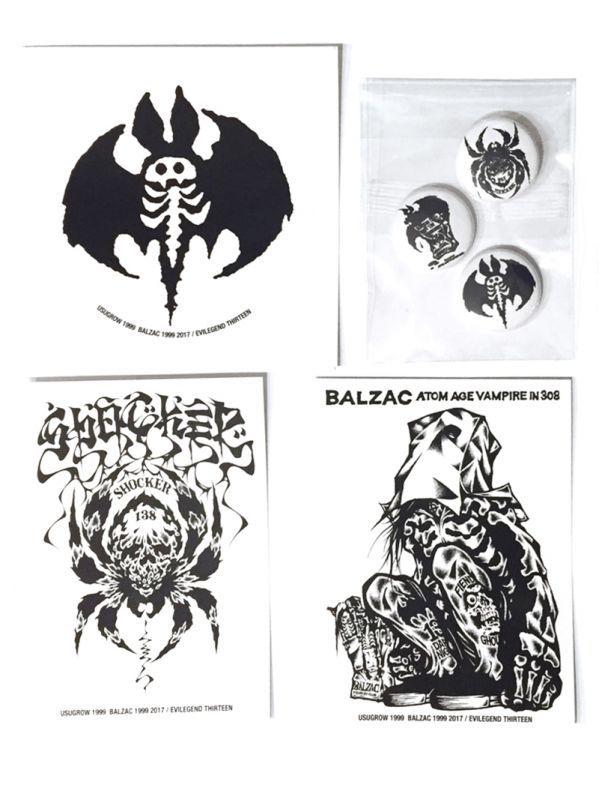 画像1: BALZAC x USUGROW 缶バッチ・ステッカーセット (1)