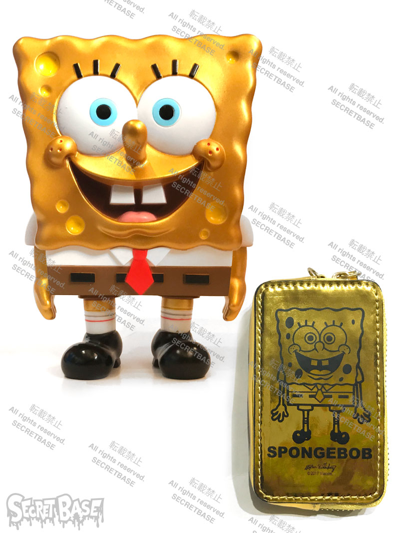画像1: SPONGE BOB FULL COLOR GOLD POUCH SET (1)