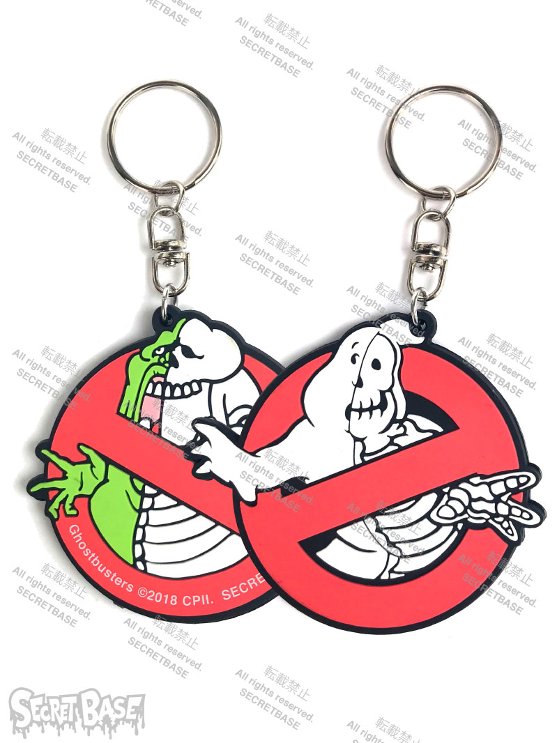 画像1: GHOSTBUSTERS X-RAY Logo & Slimer RUBBER KEY HOLDER (1)