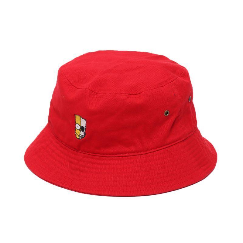 画像1: THE SIMPSONS x SECRET BASE x atmos BART BUCKET HAT RED (1)