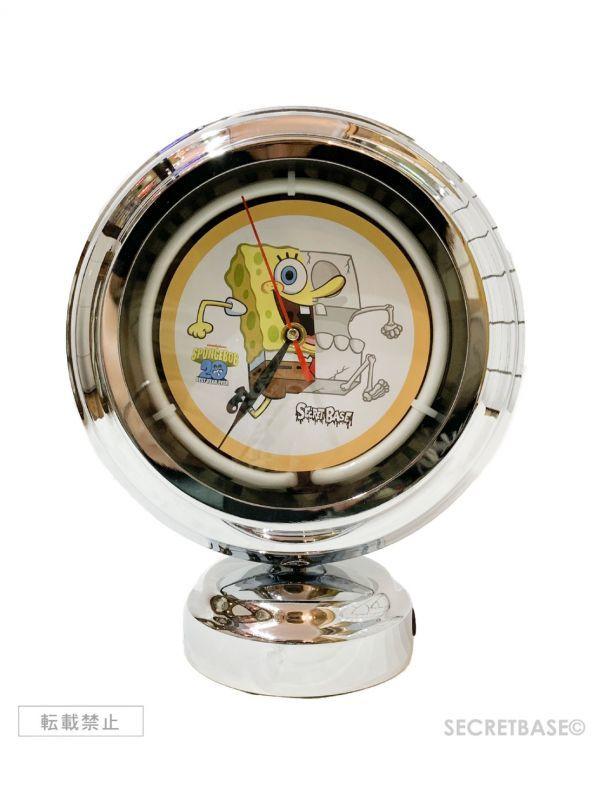 画像1: SECRETBASE ORIGINAL X-RAY SPONGEBOB NEON CLOCK (1)