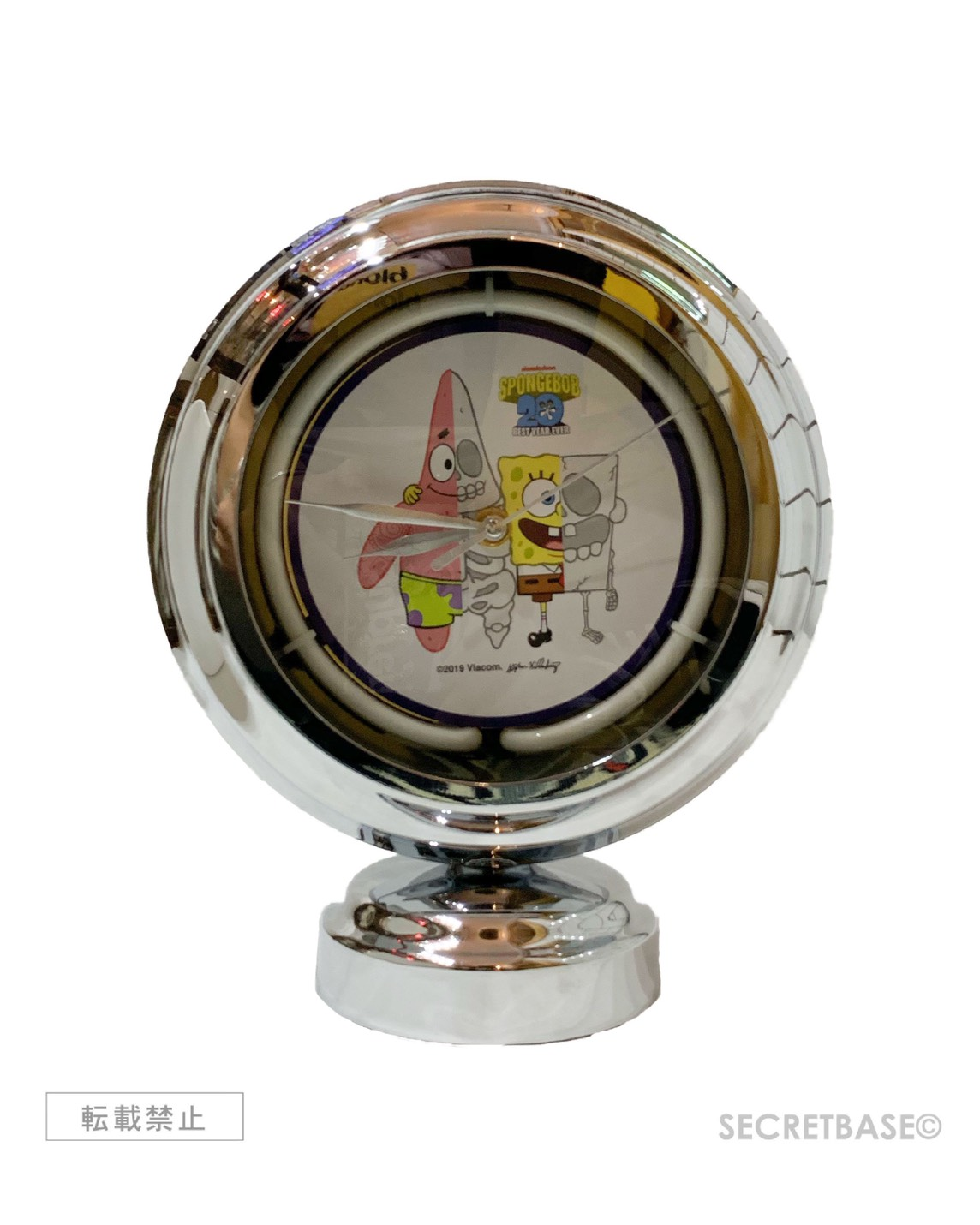 画像1: SECRETBASE ORIGINAL X-RAY SPONGEBOB & PATRICK NEON CLOCK (1)