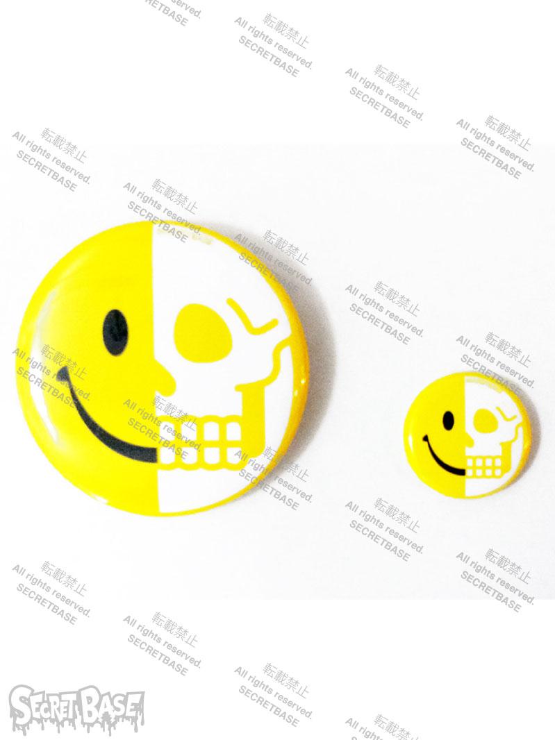 画像1: Jekyll and hyde SMILE SKULL BADGE SET2 WHITE (1)