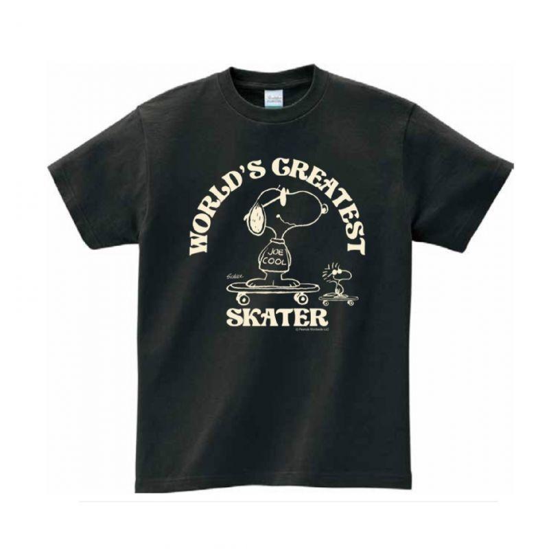 画像1: BUDDY 別注 PEANUTS スヌーピー JOE COOL Tシャツ WORLD'S GREATEST SKATER (1)