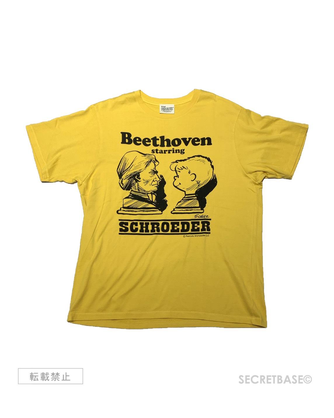 """画像1: PEANUTS別注 """"SCHROEDER starring BEETHOVEN"""" T-SHIRTS 2019 Ver. YELLOW (1)"""